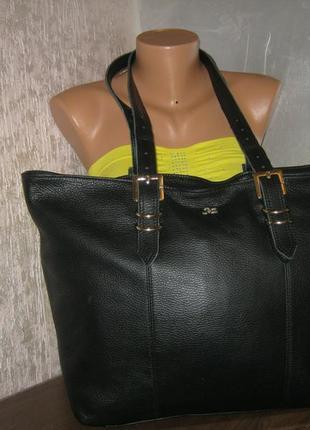 Итальянская женская кожаная сумка шоппер натуральная кожа италия