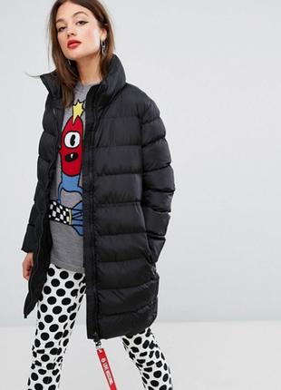 Новый пуховик love moschino оригинал куртка дутое пальто москино италия