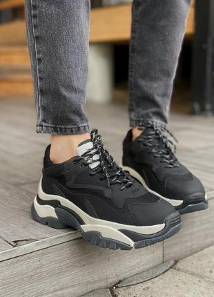Новинка женские кроссовки ash black