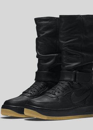 Р.38,39,40 кожаные сапоги/высокие кроссовки/ботинки nike air force 1 upstep warrior
