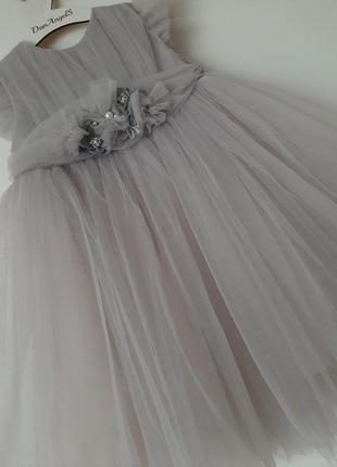 Шикарное нарядное платье для очаровательных девочек.