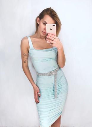 Новое  платье миди от oh polly по фигуре с утяжкой в размере s