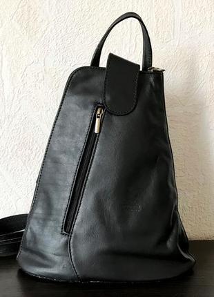 Рюкзак 29512 натуральная кожа /италия/ черный