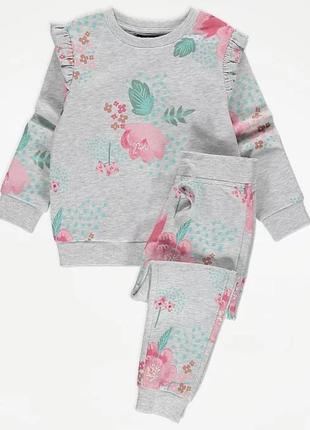 Утеплений спортивний костюм  george на дівчинку 5-6 років