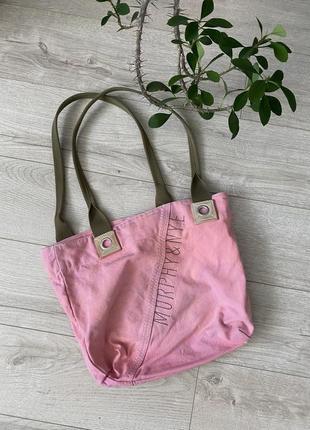 Morphs& nye розовая тканевая сумка)-шопер