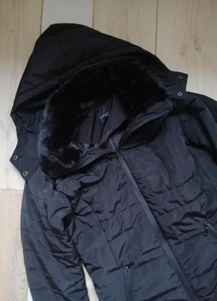 Mark adam германия чёрная теплая куртка с капюшоном, пуховик, пальто zara bershka topshop