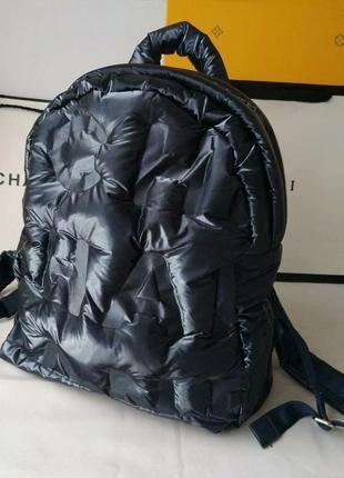Рюкзак синиий унисекс в стиле chanel💎