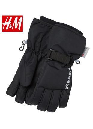 Лыжные краги перчатки h&m 134 140