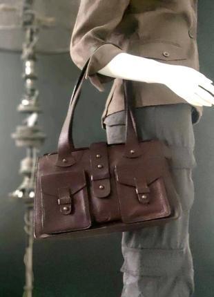 Timberland. сумка из натуральной кожи.