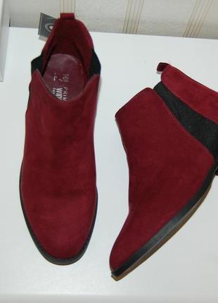 Ботинки деми бордовые новые 39 р 25 см