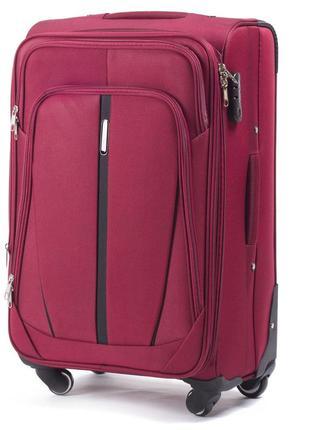 Тканевый чемодан wings размер l бордовый