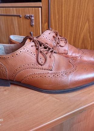 Туфли броги kurt geiger кожаные