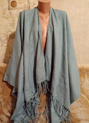 Роскошное теплое широкое пончо accessories оверсайз