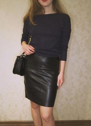 Кожаная юбка dilvin