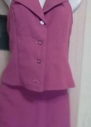 Женский костюм юбка+жилет
