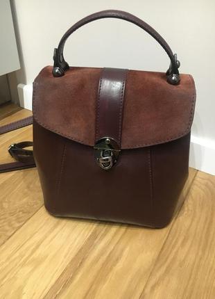 Сумка рюкзак кожаный vera pelle