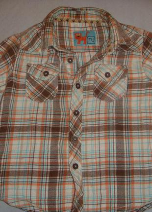 Рубашка фланелевая брендовая tu