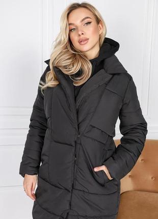 Женская очень теплая зимняя курточка