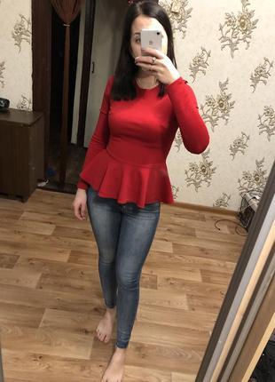 Блузка, кофта с баской
