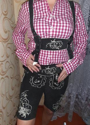 Баварские шорты октовберфест кожа.