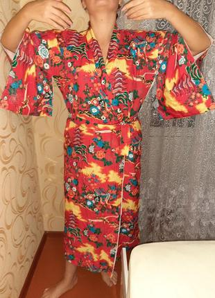 Китайское платье кимано.есть дефект.
