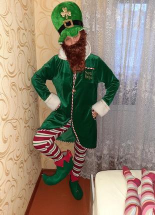 Карнавальный костюм эльф, помощник санты.