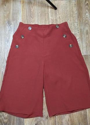 Юбка шорты кирпичного цвета