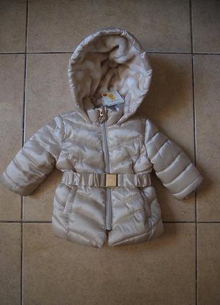 Куртка для девочки ovs fagottino 3-6 мес. ,сваровски, синтепон, флис