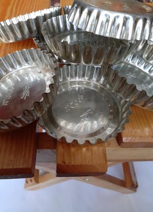 Комплект формочек для кексов ссср металлические форма для выпечки