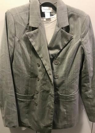 Длинный пиджак, серый блейзер