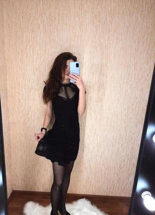 Элегантное чёрное платье от new look
