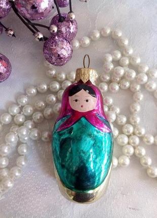 Матрешка елочная игрушка подвеска новогодняя рождественский декор
