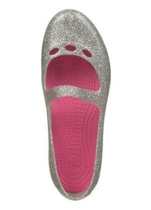 Crocs crocband clog оригинал кроксы серебристые балетки бренд из сша с8 с6