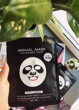 Тканевая маска для лица панда смягчающее rorec animal panda mask