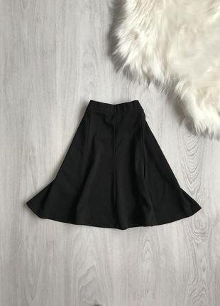 Чёрная мини юбка солнце