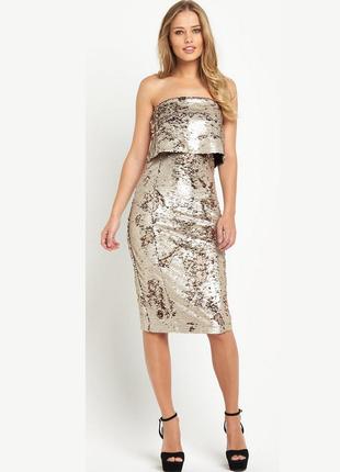 Нарядное миди платье в пайетках lavish alice