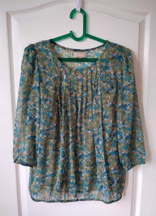 Легкая блуза пастельных цветов принт цветы #soon_clothing