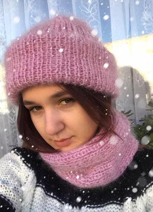 Шапка и снуд 56-58р. hand made