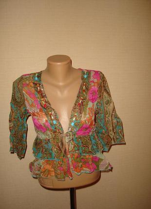 Новая блузка на завязке morgan, размер 12,