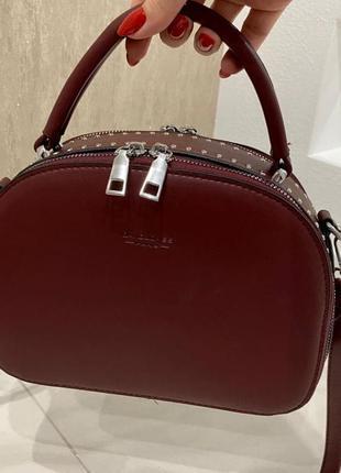 Женская сумка david ( бордо)