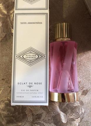 Парфюмированная вода versace atelier versace eclat de rose, тестер, 100 мл, унисекс