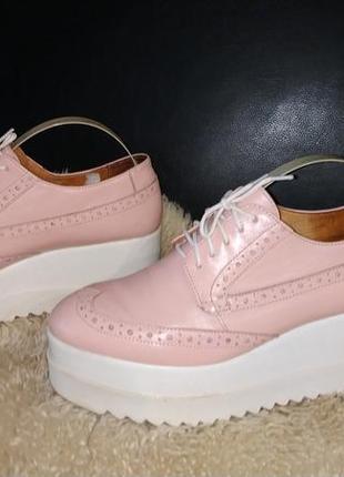 Tuto шкіряні туфлі пудрові