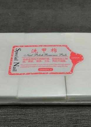 Безворсовые салфетки для маникюра, снятия гель лака плотные 1000 шт