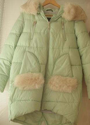 Куртка зимняя теплая как новая