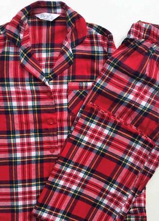 Любимая фланелевая женская пижама в клетку primark