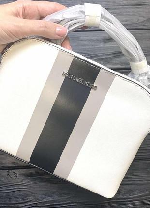 ❤️❤️сумочка cindy striped saffiano leather dome crossbody bag