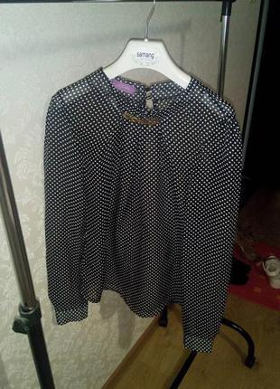 Блузка в горошек шифоновая