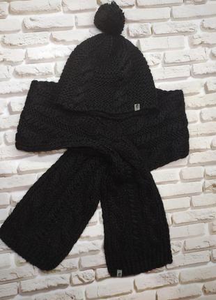 The north face комплект шерстяной шапка шарф набор зима