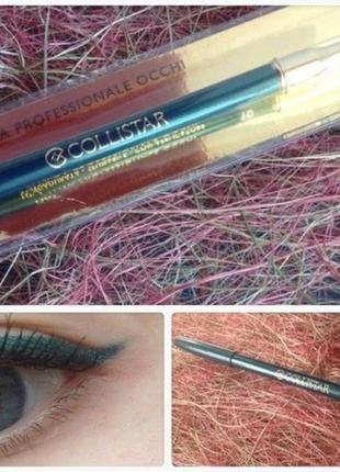 Карандаш для глаз collistar professional eye pencil 10 verde metallo тестер