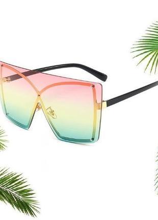 Крутые новые солнцезащитные очки, летние 3-х цветные, яркие стильные